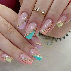 Heart Nail Designs, Nail Art Designs, Manicure E Pedicure, Heart Nails, How To Do Nails, Hair And Nails, Make Up, Finger Nails, Beauty