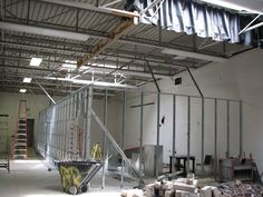 Demolition in progress at the Madison Annex