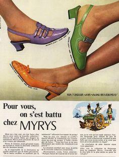 60s Shoes, Shoes Ads, Sock Shoes, Retro Heels, Sixties Fashion, Mod Fashion, Fashion Shoes, Mode Vintage, Vintage Shoes