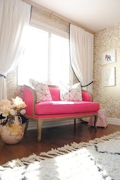 Pink Couch--perfect sophisticated little girls room