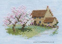 Free Cross Stitch Charts | Orchard Cottage - Minuets - Cross Stitch Kit from Derwentwater Designs