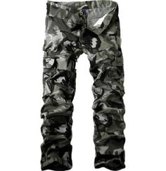 Aowofs Multi-Pocket Men S Fashion Camouflage Pants Casual Overalls (Screen  Color) – USD 8c9b520bc231