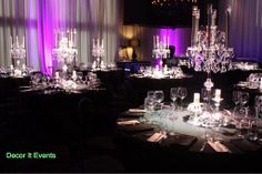 Crystal candelabra #wedding decorations #crystal centerpieces #melbourne #AGV sketch #atlantic group v www.decorit.com.au