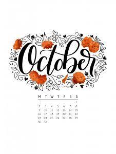 Fresh Desktop Wallpapers Calendar October 2018