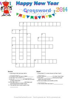 New Years Crossword Puzzle