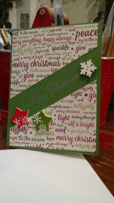 The Merry Christmas is embossed but it didn't come out very well!