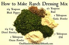 When the Dinner Bell Rings: Homemade Ranch Dressing Mix