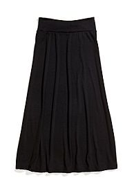 Amy Byer Solid Maxi Skirt Girls 7-16