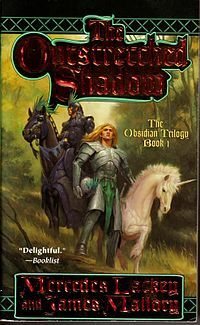 The Outstretched Shadow - Book 1 of The Obsidian Trilogy series by Mercedes Lackey. Deep in Obsidian Mountain, the Demons are waiting. Since their defeat in the last great War, they've been biding their time. Very soon now, when the Demons rise to make war, there will be no alliance between High and Wild Magic to stand against them. There only hope, Kellen Tavadon, a Wild Mage, banished from his home by his father the Arch-Mage Lycaelon Tavadon of Armathelieh.
