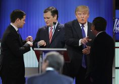 The four remaining Republican presidential contenders were determined to stay out of the gutter last night, refusing to attack front-runner Donald Trump any time the moderators tried to get some confrontation going. By doing so, they missed the opportunit