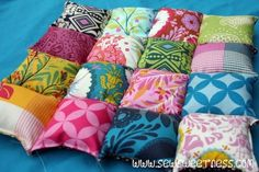 Puff Quilt Cushions Tutorial                                                                                                                                                                                 More