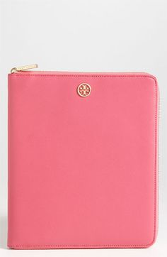 Cute Pretty in Pink Tory Burch Saffiano Leather iPad Case available at Nordstrom
