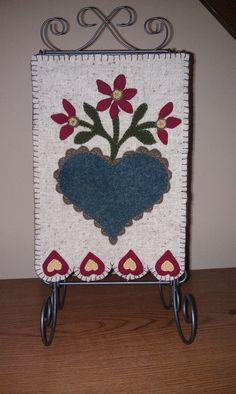 Wool applique banner