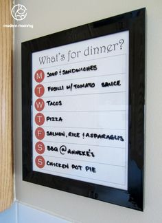 When we re-do our kitchen I'm going to make a weekly menu board and a sweet & savory spice rack.