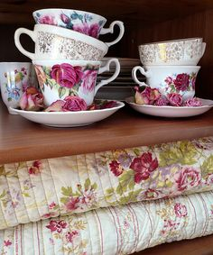 quilts and cups by kim Naumann, Curiouser  Curiouser Designs on flickr