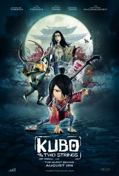 Kubo and the Two Strings 2016 Poster Disney Pixar, Disney Movies, Disney Stuff, Dreamworks, Stop Motion Movies, Laika Studios, Kubo And The Two Strings, Samurai, Movie Poster Art