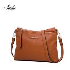AMELIE GALANTI Женская сумка не большая, крутая,  через плечо мягкая удобная,Высокое качество PU, благородный и Особенный стиль,Наклонные карманы