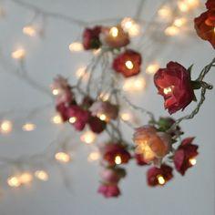 Bohemian Garden Mixed Rose Fairy Lights Pretty by PamelaAngus