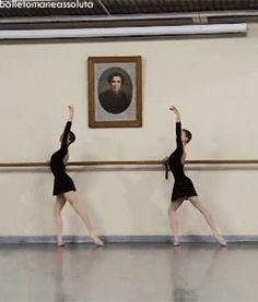 GIF Ksenia Zhiganshina (left) and a classmate from the Vaganova Ballet Academy  Ksenia Zhiganshina and Anastasia Lukina.