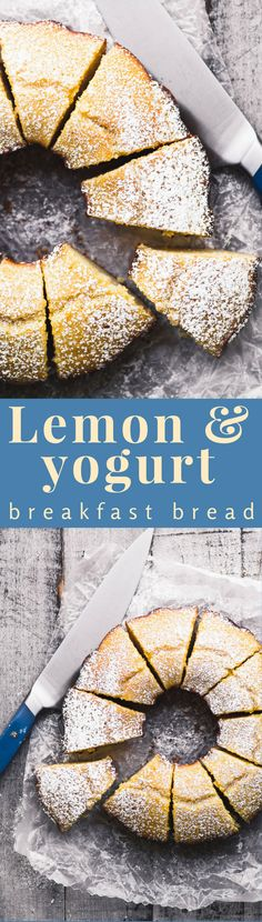 Lemon Yogurt Breakfast Cake, or Ciambella ~ this is a classic Italian style lemon bundt cake with lots of lemony flavor and a delicate crumb. Pair it with a good cup of coffee and you've got the start to a great day. Italian Breakfast, Yogurt Breakfast, Breakfast Cake, Breakfast Dishes, Breakfast Healthy, Sweet Breakfast, Lemon Desserts, Lemon Recipes, Fun Desserts