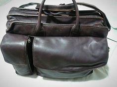 Franklin Quest Executive Leather Briefcase Full Grain Nappa Leather Attache Bag