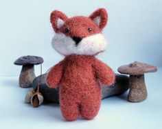 Needle felted fox by 13Chestnuts on Etsy, $18.00