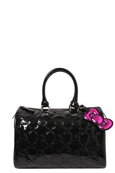 Loungefly - Hello Kitty Black Embossed City Bag