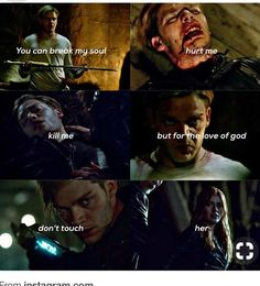 #Cute, I love how protective Jace is of Clary, yet Clary just can take care of herself