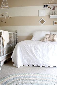 Outfit your nursery with a cushy sofa or cozy daybed, and you'll be drifting off to dreamland right along with your little one