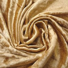 Gold Velvet Fabric Yardage Commercial Fabric Curtain by FabricMart