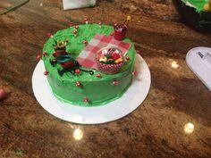 Mini picnic scene cake