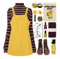 """Little Miss Busy"" von pink-quartz ❤ mochte Poly… Aesthetic Fashion, Aesthetic Clothes, Look Fashion, 90s Fashion, Korean Fashion, Fashion Outfits, Ladies Fashion, Fashion Clothes, Fashion Trends"