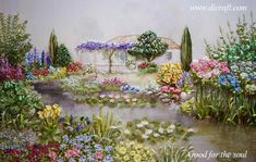 The latest news in silk ribbon embroidery. Click on the image to enlarge. Happy Weekend!
