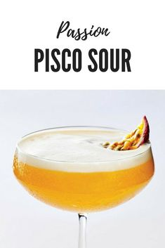 A tropical spin on the South American classic, this version uses zingy passion fruit and mango to add brightness to pisco. Brandy Cocktails, Easy Cocktails, Classic Cocktails, Peruvian Drinks, Peruvian Recipes, Pisco Sour, New Zealand Food And Drink, Negroni Recipe, Sour Cocktail