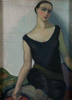 'Young woman sitting' , 1927 -  Jane Graverol