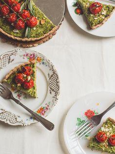 Vegan broccoli & tomato tart!