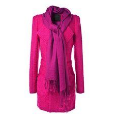 Plain Lapel Long Sleeve Woolen Coat- wendybox.com
