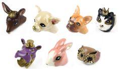 Mödernaked sweet animal rings