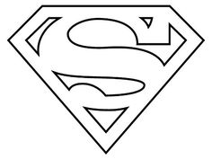 Superhero Coloring Pages: Superman Logo Superman Logo, Marvel Logo, Superman Symbol, Superman Tattoos, Superman Coloring Pages, Free Coloring Pages, Printable Coloring Pages, Coloring Sheets, Coloring Pages For Kids