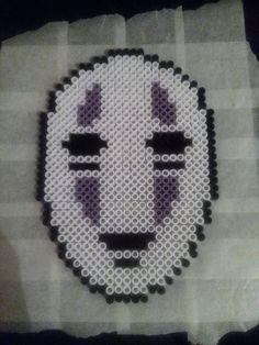 No-face perler beads by kitsunenairu