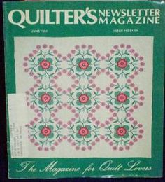 Quilter�s Quilters Newsletter Magazine #163 1984 June