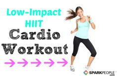 High-Intensity Cardio That Isn't Hard on Your Joints? Sign me up! You'll LOVE this low-impact workout that takes just 10 minutes! | via @SparkPeople #fitness #exercise #video