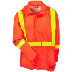 Security & Protection Workplace Safety Supplies Urban Supply Hi Vis Fire Retardant Orange Welding Coat Quilted Safety Mens Winter Jacket
