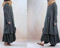 WOmen Spring dress linen dress maxi dress / long dress by chaxuan
