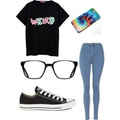 Untitled #30 by jessie35124 on Polyvore featuring polyvore, fashion, style, Topshop, Converse and GlassesUSA