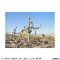 Saguaro Cactus In The Desert Fleece Blanket