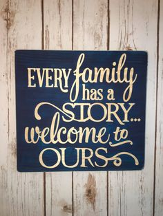 Wooden Sign Quotable Gifts-EVERY FAMILY-Wall by personallysigned