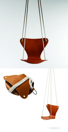 Raw Furniture, Furniture Design, Swinging Chair, Chair Swing, Interior Concept, Arne Jacobsen, Work Inspiration, Club Chairs, Leather Craft