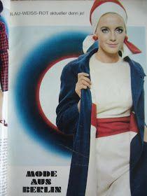 """""""Em 1965, na França, André Courrèges operou uma verdadeira revolução na moda, com sua coleção de roupas de linhas retas, minissaia..."""