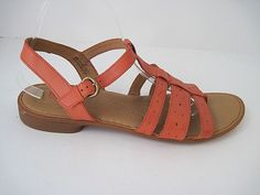241807eed757ac BORN Marisol Women s Coral Leather T-Strap Slide Thong Sandals Size 11 43   Brn  TStrap  Casual